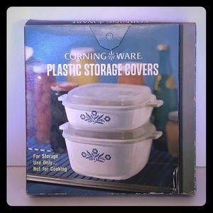 Vintage Plastic Corning Ware Dish Covers